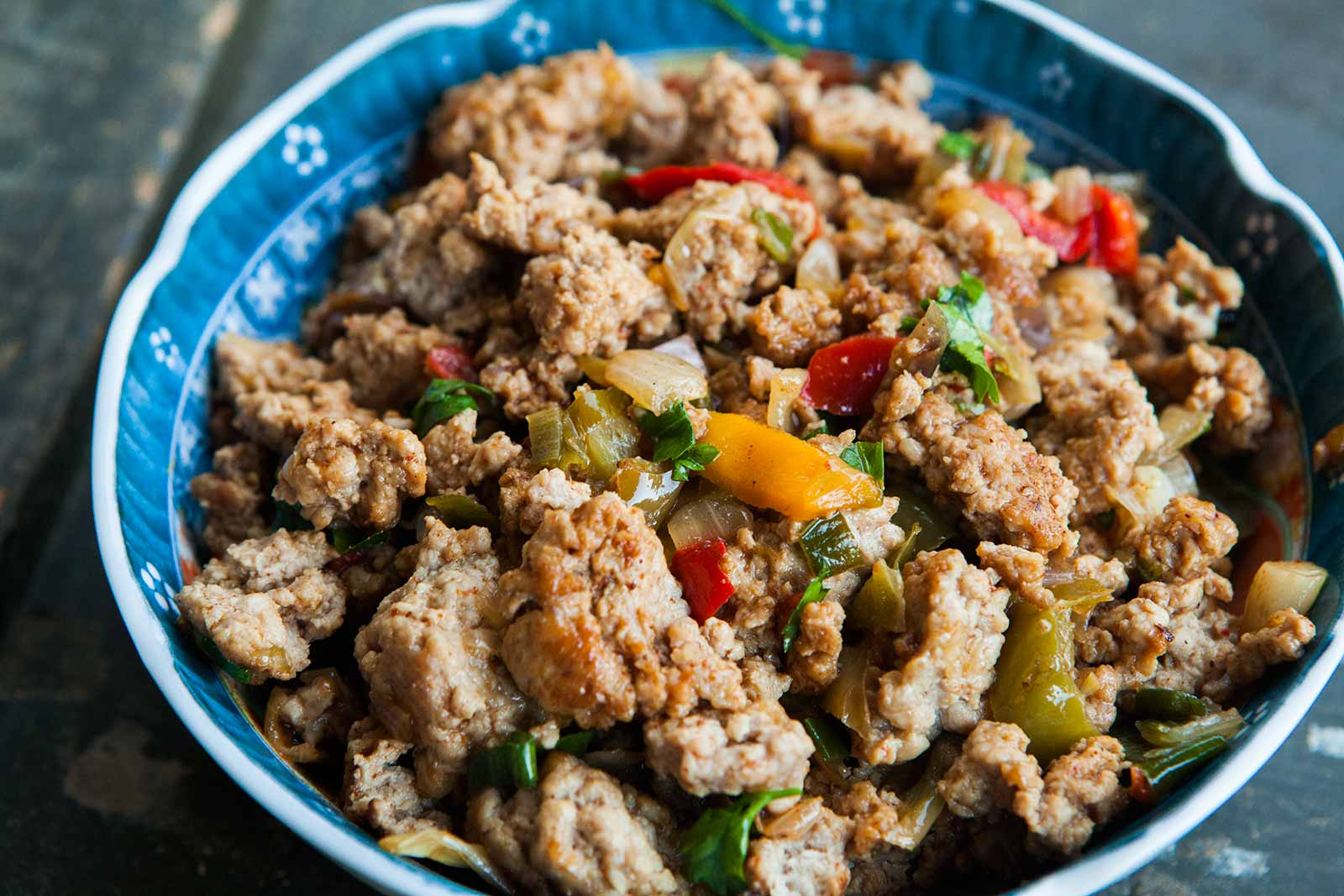 Mom's Ground Turkey and Peppers